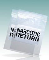 Narcotic Return Bag Reclosable