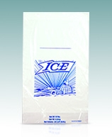 Printed Ice Bags on a Header for Ice Baggers