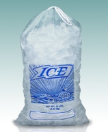 Printed Metallocene Ice Bags with Drawstring Closure