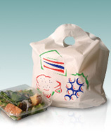Printed Biodegradable Take Out Bags