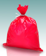 Red Dressing Disposal Bag