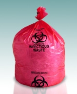 High Density Red Infectious Waste Liners
