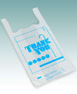 """Thank You"" Printed T Shirt Bags"