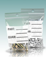 Zip Re-sealable Lock Part Bags w/ Hang Holes